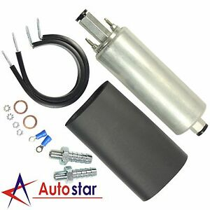 New Universal High Flow Pressure External Inline 255lph Fuel Pump Kit Gsl392