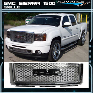 For 07 13 Gmc Sierra 1500 Light Duty Upper Front Round Hole Grille Chrome