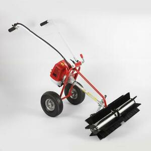 2 3hp 52cc Gas Power Hand Held Cleaning Sweeper Broom Driveway Grass Dirt Snow