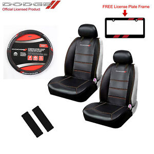New Dodge Elite Car Truck Front Seat Covers Steering Wheel Cover Free Gift