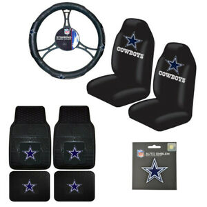 Nfl Dallas Cowboys Car Truck Steering Wheel Cover Floor Mats Seat Covers