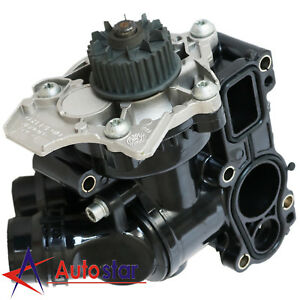 New Water Pump Thermostat Assembly For Audi A4 Vw Golf Jetta Eos1 8t 2 0t