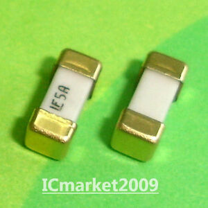 50 Pcs 5a 1808 Littelfuse Fast Acting Smd Fuse 5 0 Ampere Surface Mount Fuses