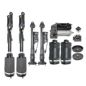 7pcs Front Rear Air Struts With Ads Compressor Kit For Mercedes Ml X164 W164