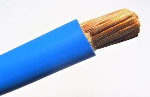 30 1 0 Awg Welding battery Cable Blue 600v Made In Usa Copper Epdm Jacket