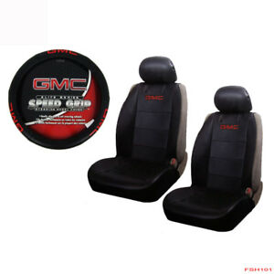 New Gmc Elite Series Car Truck Suv Front Seat Covers Steering Wheel Cover Set