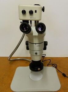 New Nikon Smz 800 Stereozoom Microscope With Post Stand Ring Light Illuminator