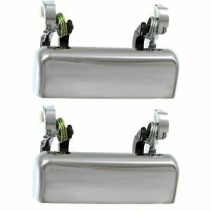 New Set Of 2 Door Handles Front Or Rear Driver Passenger Side Chrome Pair