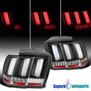 For 1999 2004 Ford Mustang Sequential Led Tail Lights Brake Lamp Black