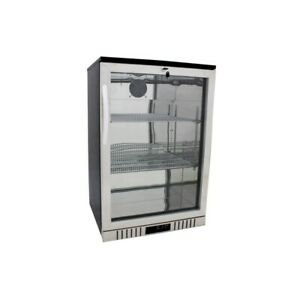 24 Stainless Steel Commercial Glass Door Back Bar Refrigerator