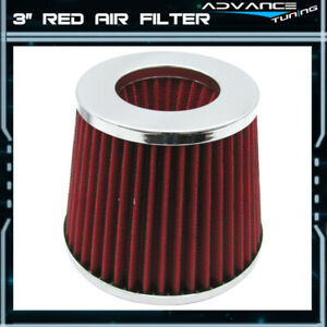 Fit Subaru Nissan 200sx 300zx Maxima Micra P Style Intake Filter Red 3