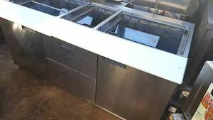 6ft Sandwich Table Mega Top Refrigerator By Delfield