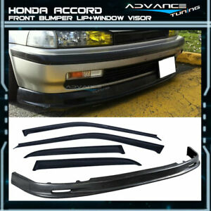 For 90 93 Honda Accord 4dr Mg Pp Front Bumper Lip sun Window Visor