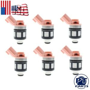 Set Of 6 1996 2004 For A Nissan Frontier Pathfinder 3 3l Fuel Injectors