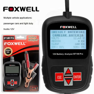 Foxwell Bt10012v Digital Car Battery Analyzer Tester Tool For Flooded agm gel Us