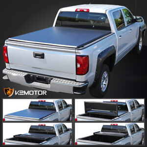 For 2005 2015 Toyota Tacoma Double Cab 5ft 60 Short Bed Tri Fold Tonneau Cover