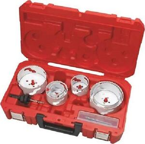 Milwaukee 49 22 4092 Electricians 8pc Large Dia Bi metal Hole Saw Kit In Stock