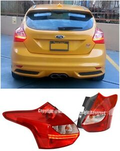 For 12 14 Ford Focus 4dr Hatchback Eiro Edm Style Led Conversion Tail Lights