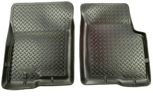 Husky Liners Classic 1st Row Floor Mats Fits Ford Bronco f150 250 350 Blk 33001