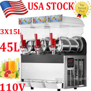 45l Commercial Tank Frozen Drink Slush Slushy Making Machine Smoothie Ice Maker