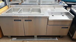 81in Stainless Counter 3 hole Steam Table By Delfield
