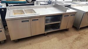 93in Stainless Counter 2 hole Steam Table Sink By Delfield Utility Stand