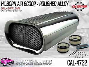 Air Scoop Hilborn Style Dual 4 Barrel Carbs Mount Polished Finish Cal 4732