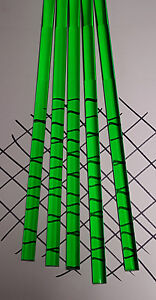 5 Clear Green 3 8 Diameter 12 Inch Long Acrylic Plexiglass Lucite Colored Rod
