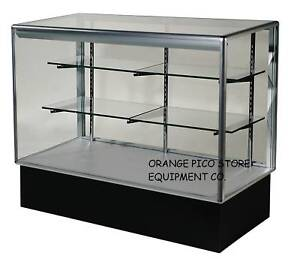 Brand New 6 Aluminum Frame Glass Bellisimo Display Show Case