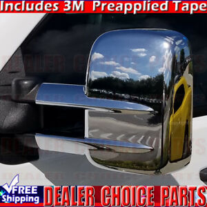 1999 2015 Chevy Silverado Gmc Sierra Chrome Mirror Covers Towing Heavy Duty Tow