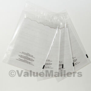 2000 6x9 1 5 Mil Bags Resealable Clear Suffocation Warning Poly Opp Cello Bag