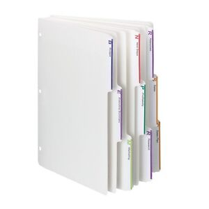 Smead Viewables 3 Ring Binder Index Dividers 1 3 cut Box Of 25 Sets 3 89413