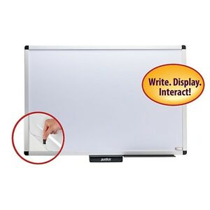 Justick By Smead Premium Aluminum Frame Whiteboard W clear Overlay 36 w X 24 h