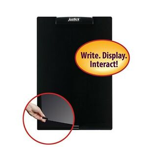 Justick By Smead Frameless Mini Whiteboard With Clear Overlay 16 w X 24 h