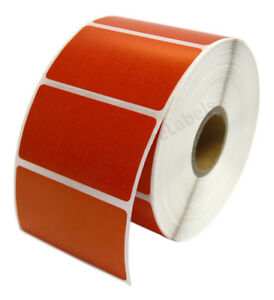 Zebra 2 25 X 1 25 Red Direct Thermal Labels 28 Rolls Lp2824 Zp450 Lp2844