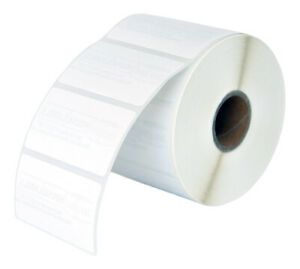 6 Rolls 6000 Labels 2 25 X 1 25 Direct Thermal Zebra Removable Lp2824 Lp2844