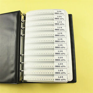 0805 Smd Resistor Kit Sample Book 1 8w 5 170 Values 50 Pcs value 8500pcs In All