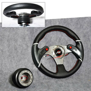 For Camry Corolla 320mm Steering Wheel Hub Adapter Black Horn Jdm 6 Hole