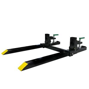 Titan 30 Lw Clamp On Pallet Forks W Adjustable Stabilizer Bar 1500lb Capacity