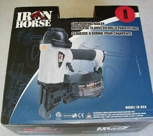 New Iron Horse Roofing Coil Nailer With Case Ih rcn Gun Power Air Tool