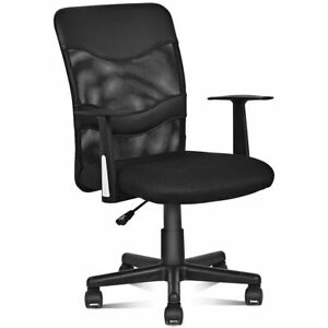 Modern Mesh Mid back Executive Computer Desk Task Office Chair Ergonomic Black