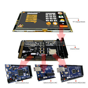 Serial Spi 5 Inch 480x272 Tft Lcd Touch Shield For Arduino Due mega 2560 uno