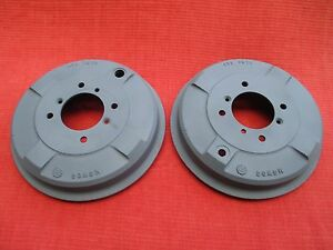 Pair Of Oem Reconditioned Disc Wheel Brake Drums Atb 7075 Mga 1500 1600 Mg