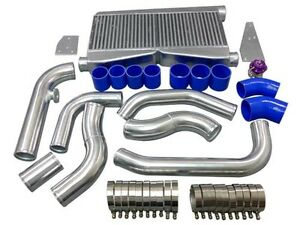 Twin Turbo Intercooler Kit Piping Bov For 79 93 Mustang 5 0 Fox Body Blue