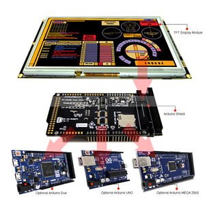 8 Inch Tft Lcd Resistive Touch Ra8875 Shield For Arduino Due mega 2560 Uno