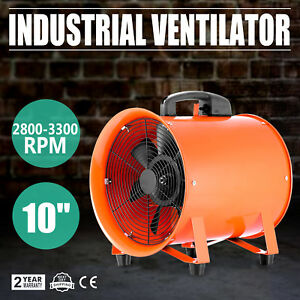 10 Ventilation 10 Inch Blower Gas Paint Exhaust Duct Fan Ventilator Extractor