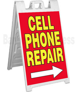 Signicade A frame Sign Sidewalk Sandwich Pavement Sign Cell Phone Repair Rb