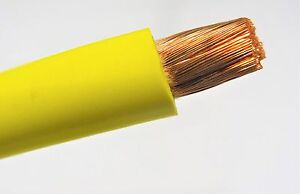 2 0 Welding Battery Cable Yellow 600v Usa Epdm Jacket Heavy Duty Copper 12 Ft