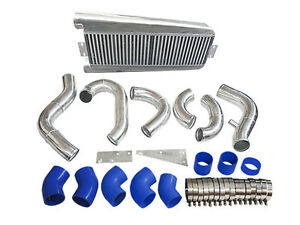Bolt On Fmic Intercooler Kit 87 93 Ford Mustang 5 0 Supercharge V3 Fox Body Blue