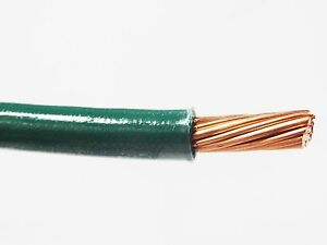 Thhn 6 Awg Gauge Green Nylon Pvc Stranded Copper Building Wire 500